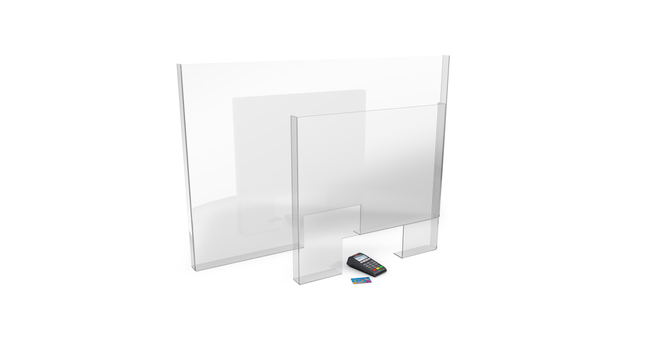 CLARITY MODULAR Protection Sneeze Screen With Cut Out