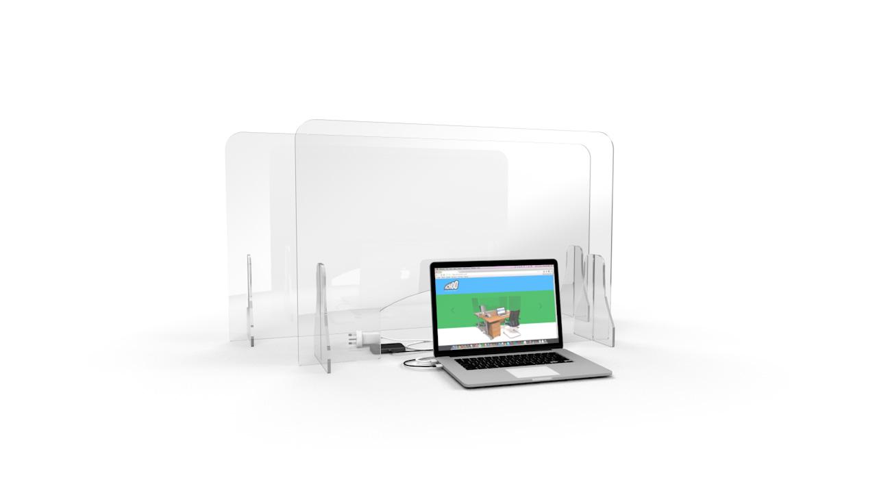 ACHOO<sup>®</sup>Crystal Clear Free Standing Perspex Screen