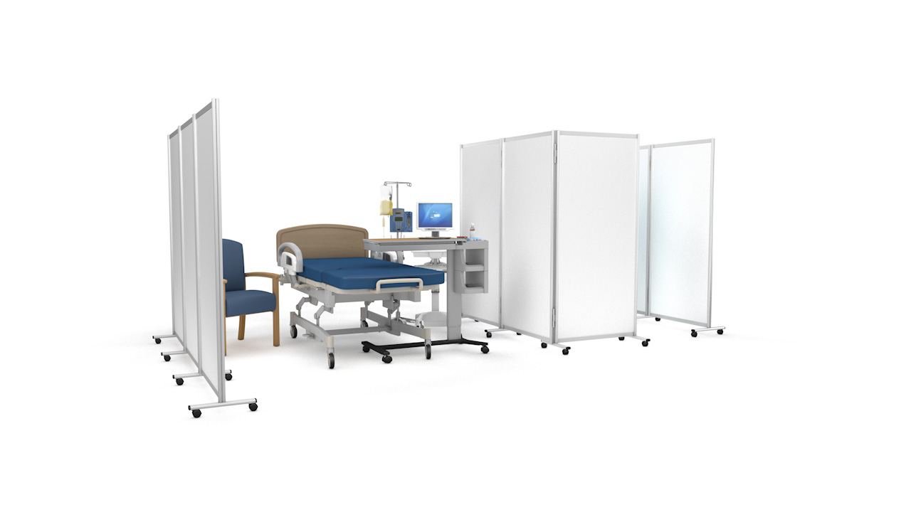 GUARDIAN DIGNITY<sup>®</sup> Medical Hospital Screens on Wheels