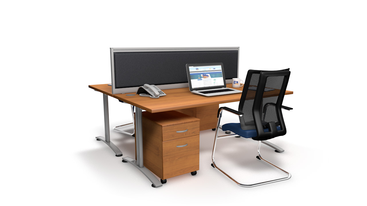 Premium Acoustic Desk Screens With Single Tool Rail