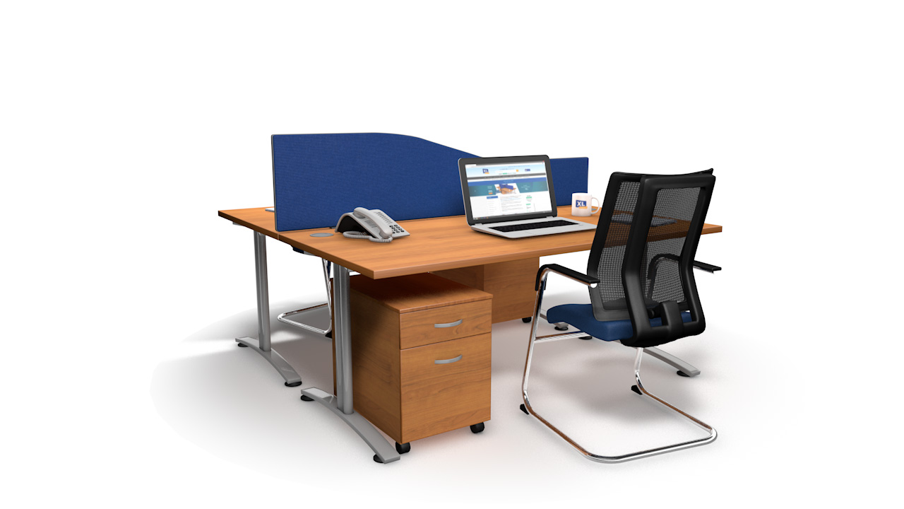 Standard Acoustic Desk Screens Wave
