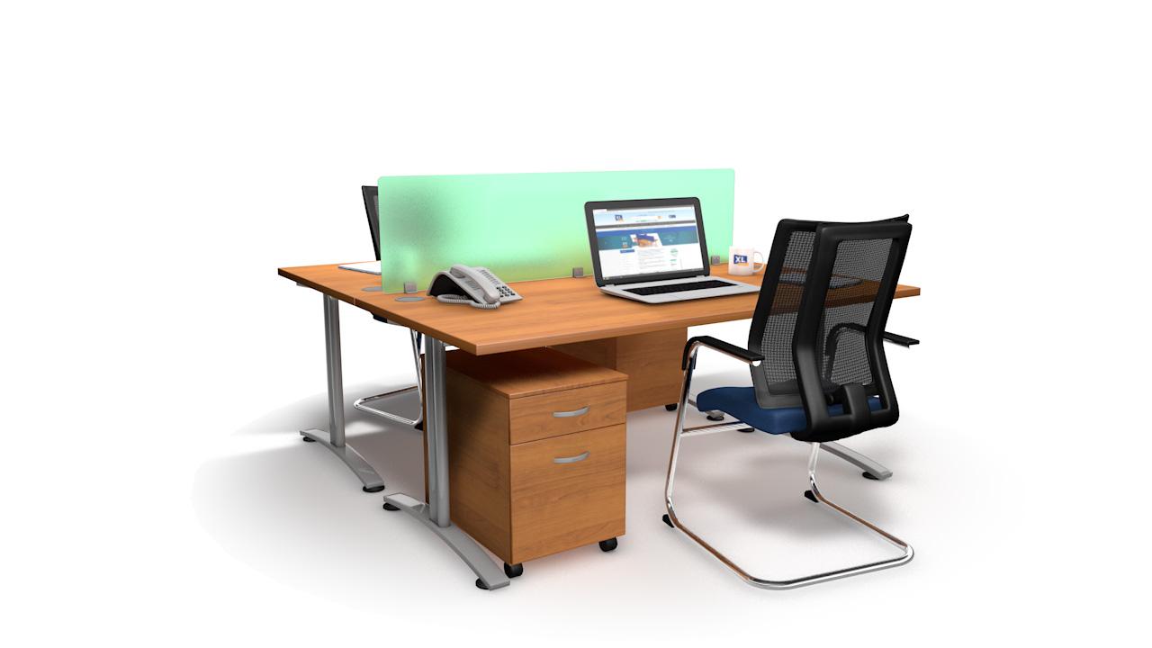 Spectrum Acrylic Straight Office Desk Divider