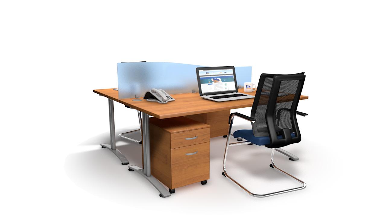 Spectrum Acrylic Wave Office Desk Divider