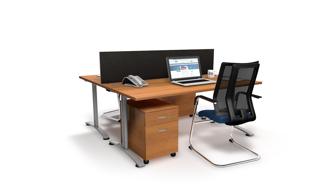 Spectrum Fabric Desk Screens Straight