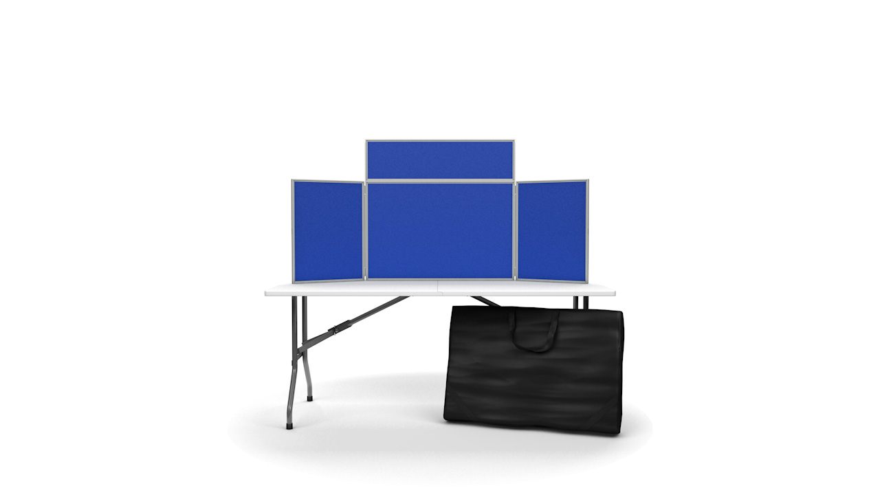 Pinnable Tabletop Folding Display Boards Landscape