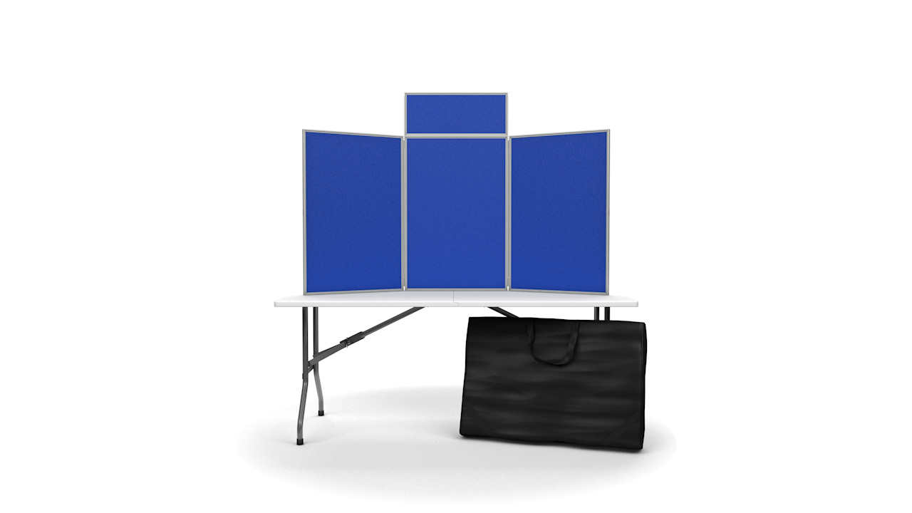 Pinnable Tabletop Folding Display Boards Portrait