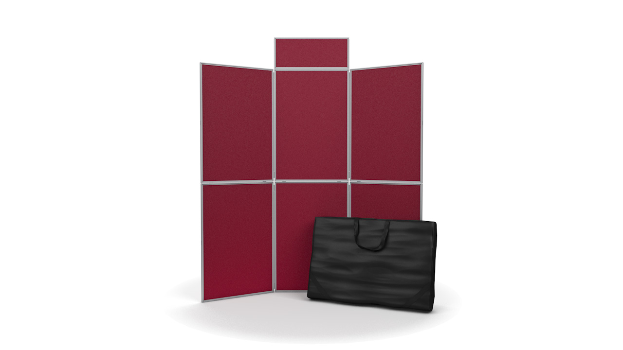 6 Panel Pinnable Folding Display Stands