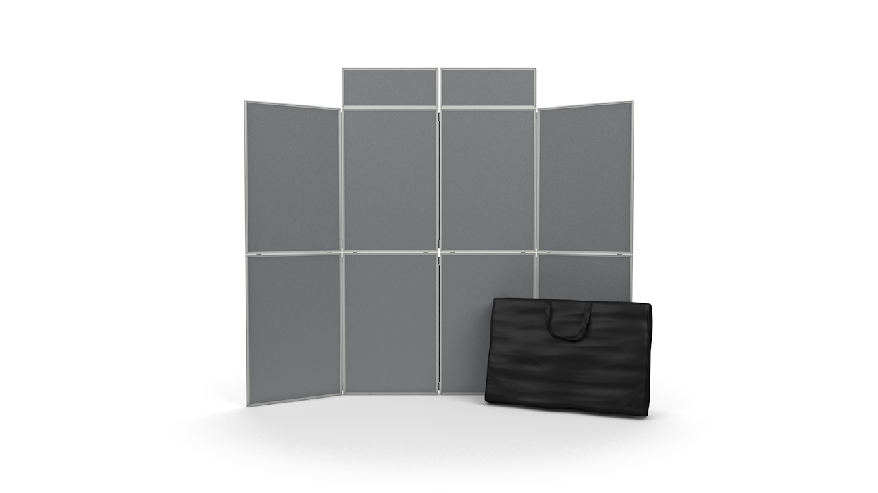 8 Panel Pinnable Folding Display Stands