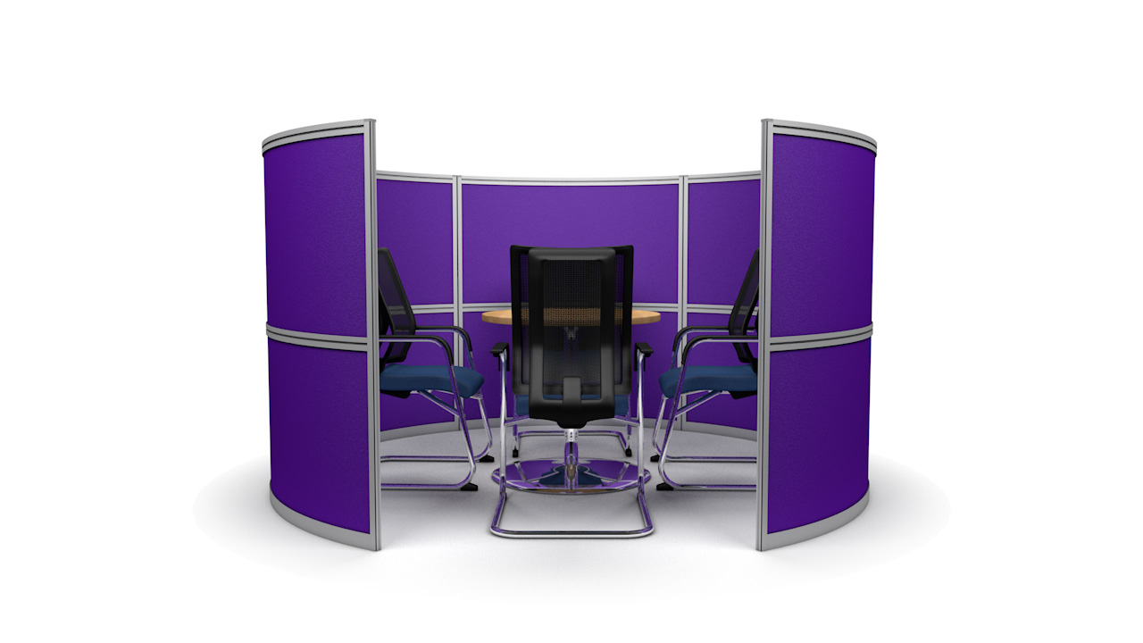 Round Free Standing Office Meeting Pods