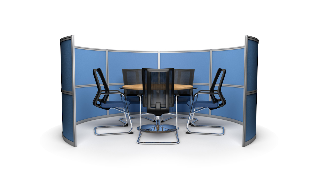 Circular Free Standing Office Meeting Pods