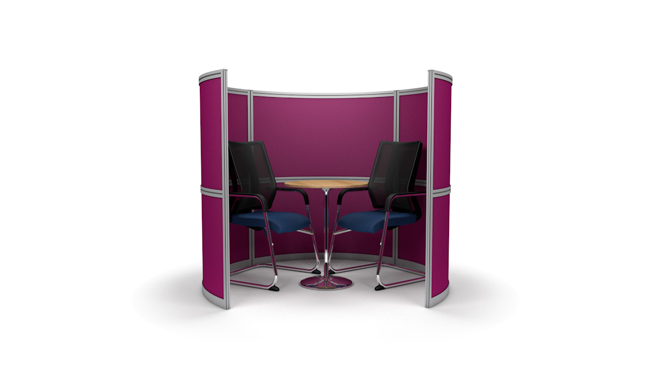 Curved Free Standing Office Pods