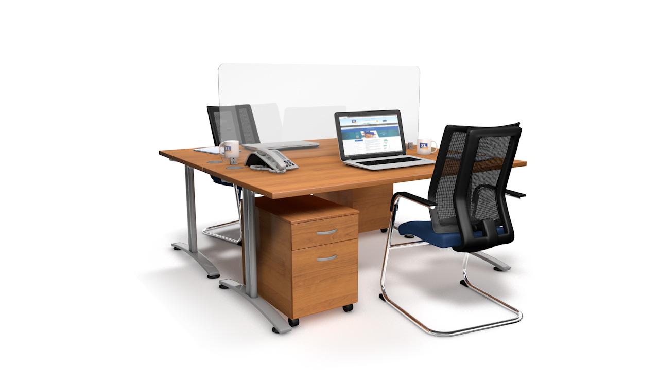 Spectrum Plus Acrylic Glass Desk Screen