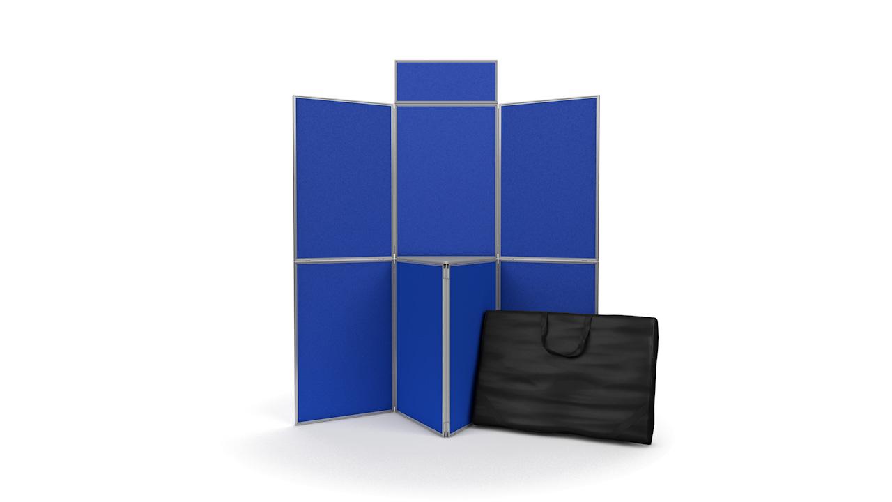 7 Panel Presentation Boards Aluminium Frame