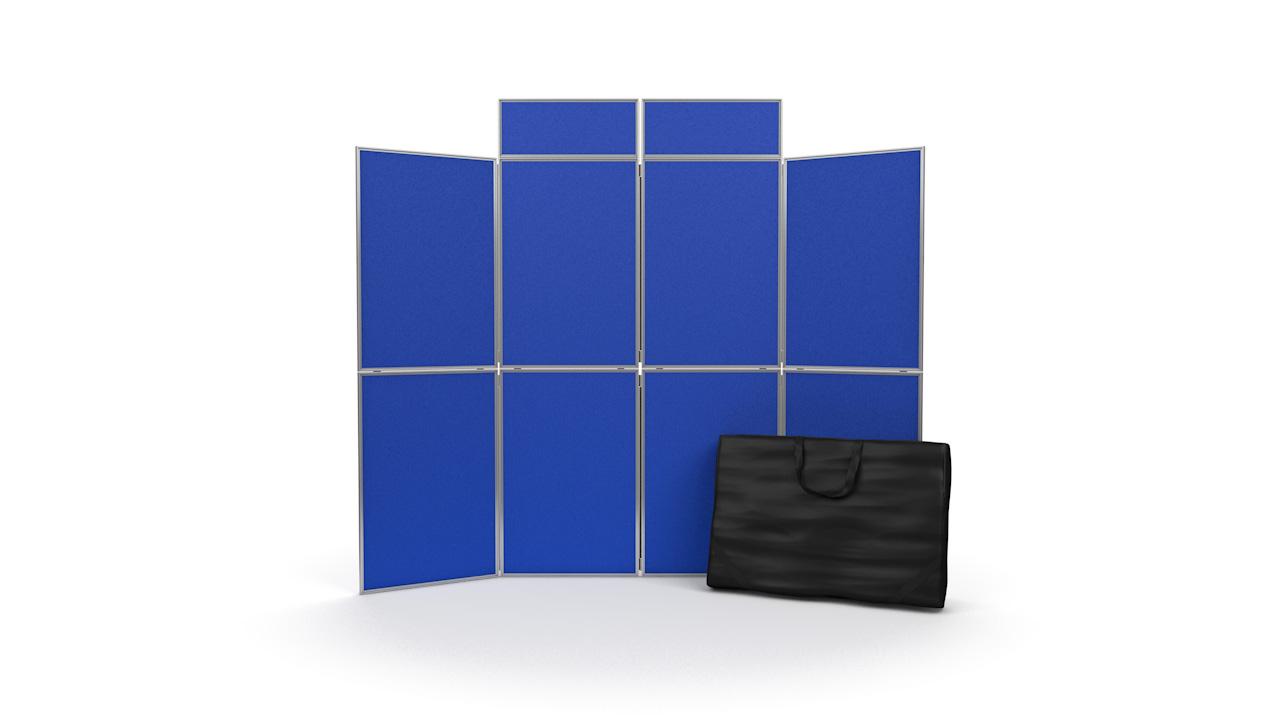 8 Panel Presentation Boards Aluminium Frame