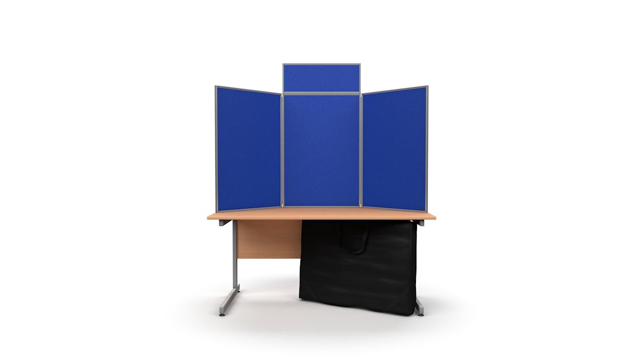 Tabletop Display Panel Kit Aluminium Frame Portrait