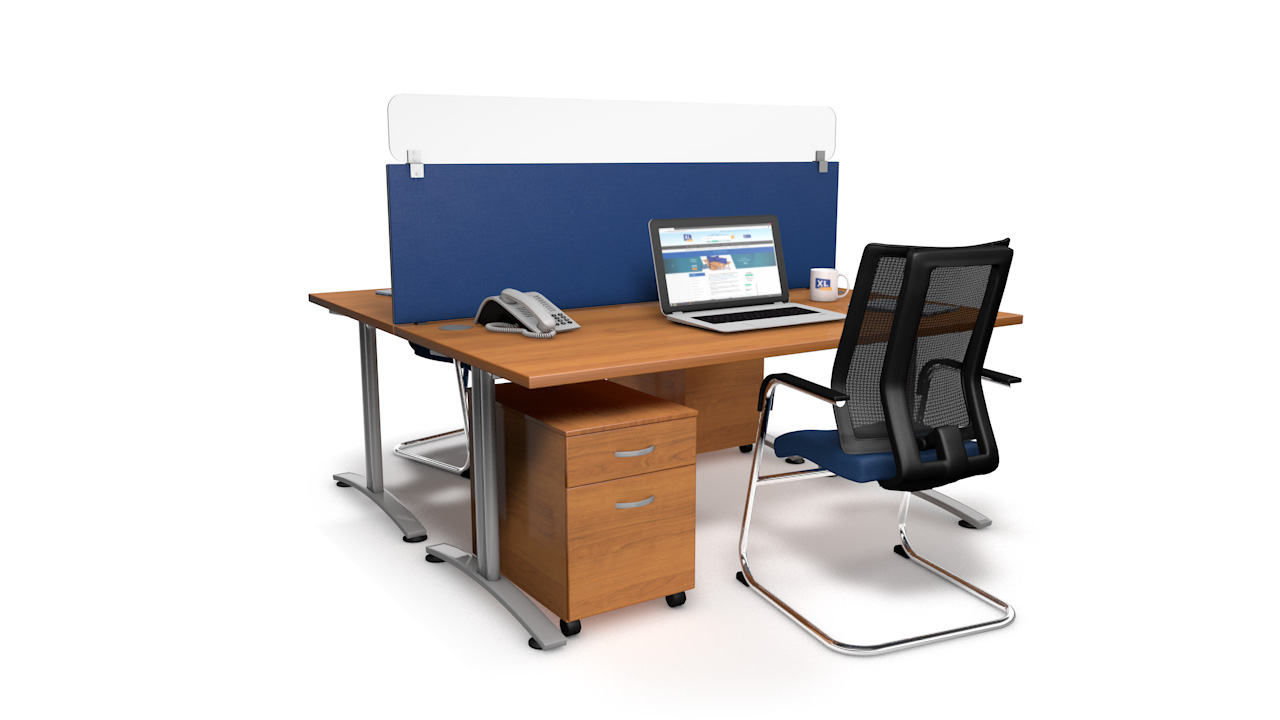 Spectrum Plus Acrylic Glass Desk Screen Topper