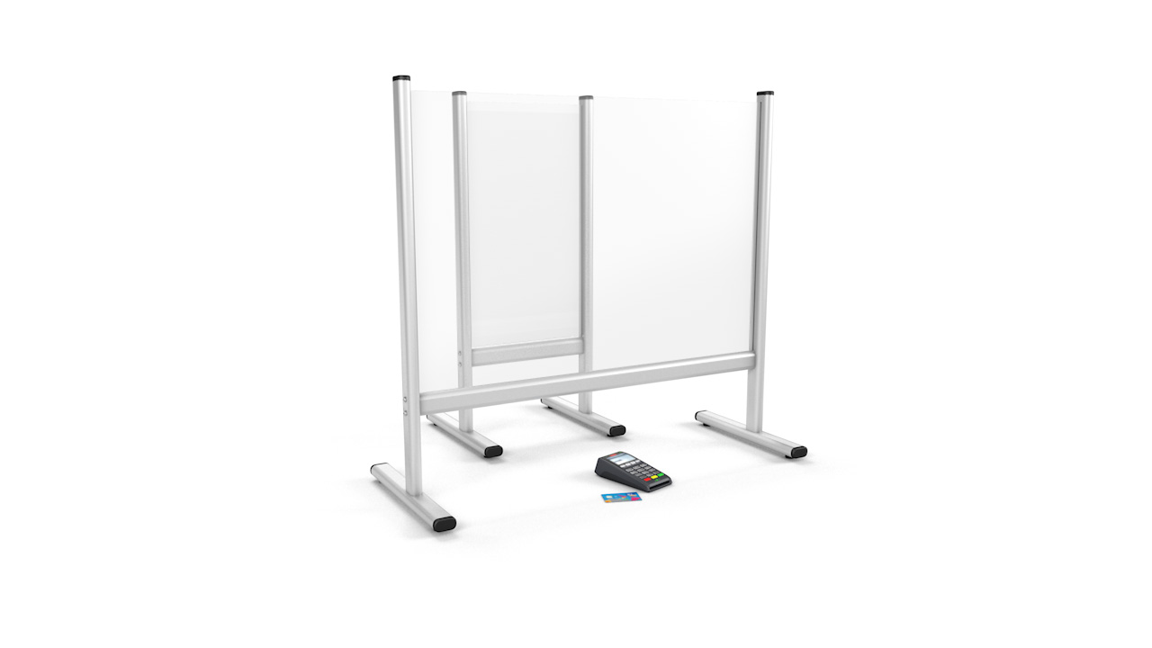Free Standing Desk Perspex<sup>®</sup> Sneeze Guard