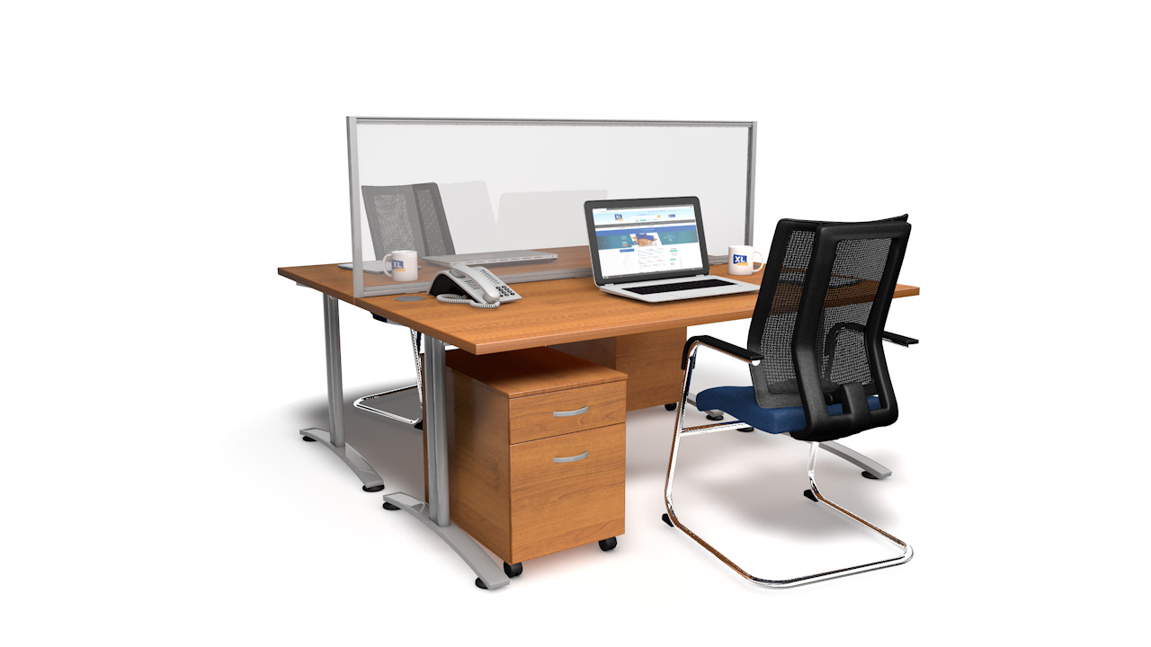 Framed Clear Perspex<sup>®</sup> Screens For Desks