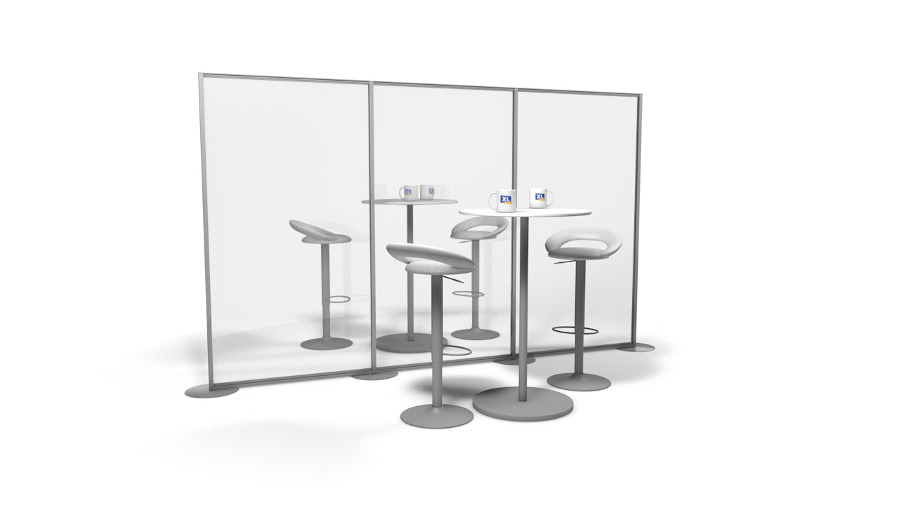 Free Standing Perspex<sup>®</sup> Office Screens