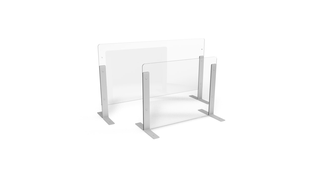 Height Adjustable Glass Protection Sneeze Screen