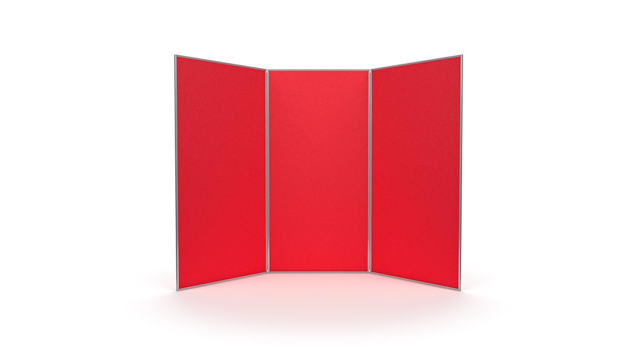 3 Panel Jumbo Exhibition Display Boards Aluminium Frame