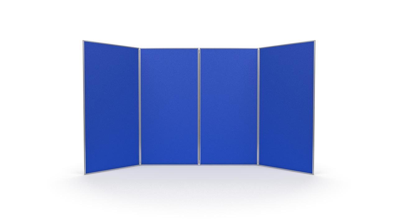 4 Panel Jumbo Exhibition Display Boards Aluminium Frame