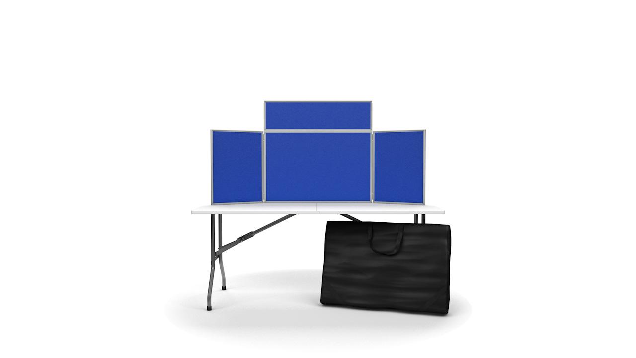 Landscape Tabletop Folding Display Panels PVC Frame