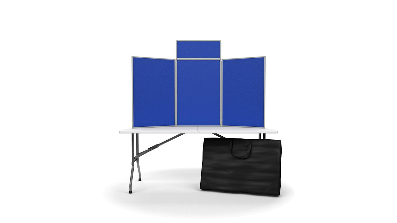 Portrait Tabletop Folding Display Panels PVC Frame