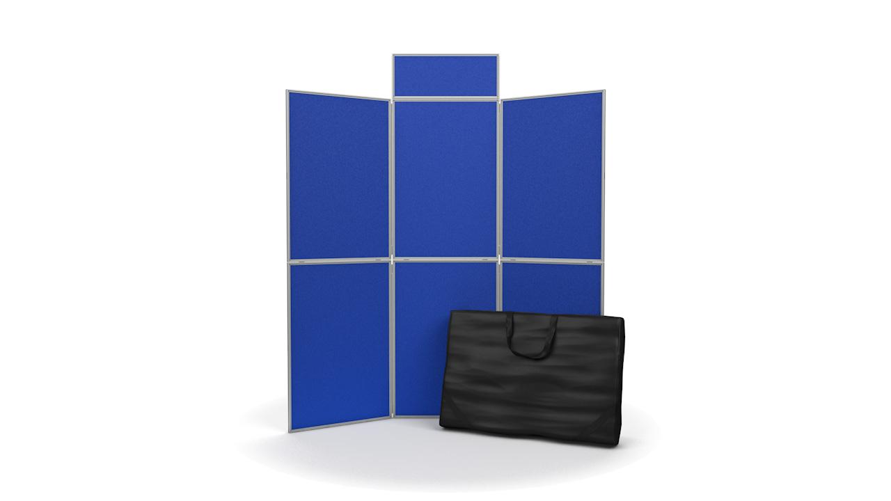 6 Panel Folding Display Board Panels PVC Frame