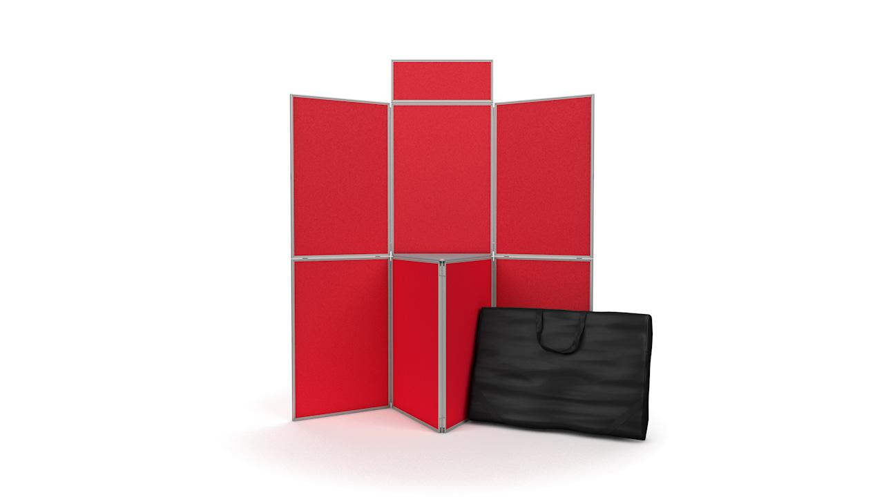 7 Panel Folding Display Board Panels PVC Frame