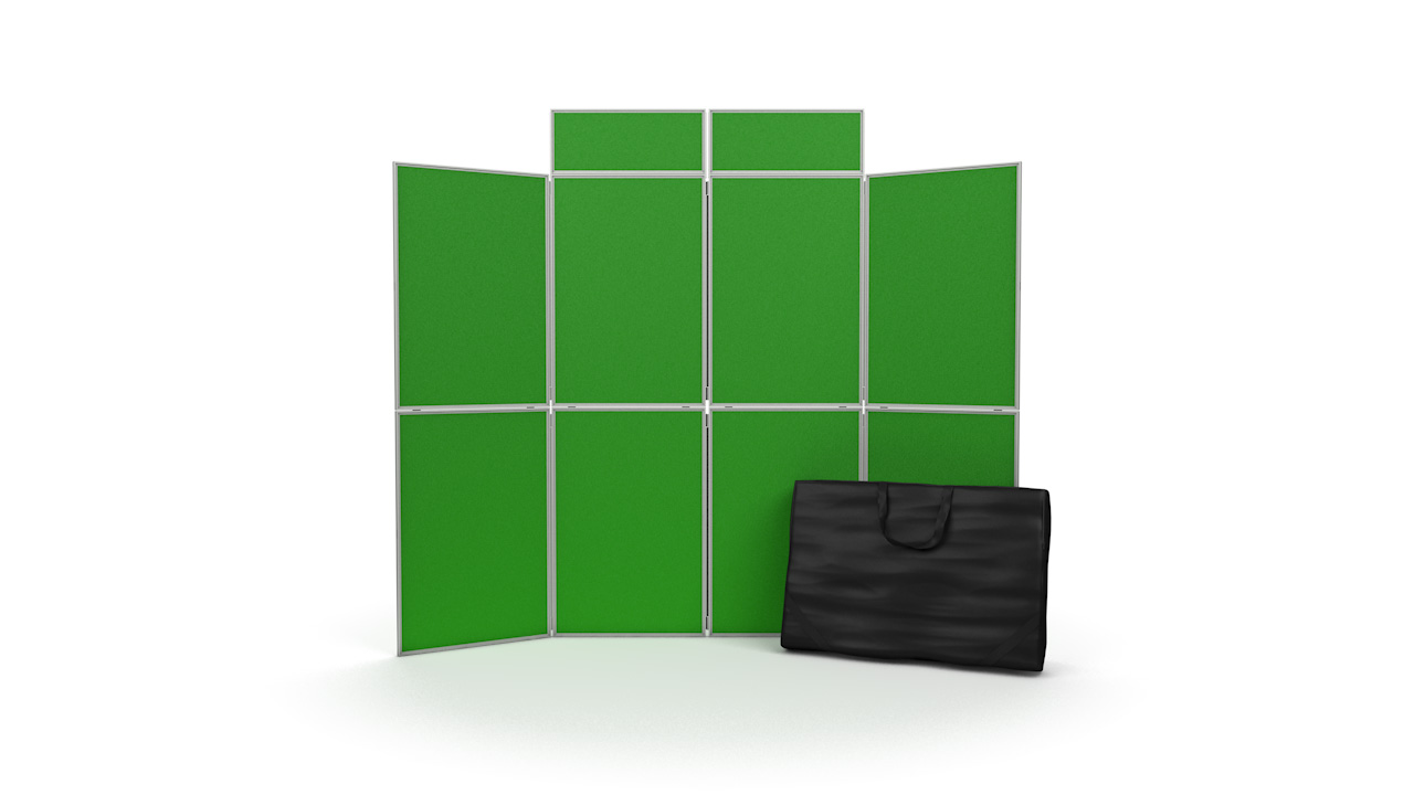 8 Panel Folding Display Board Panels PVC Frame