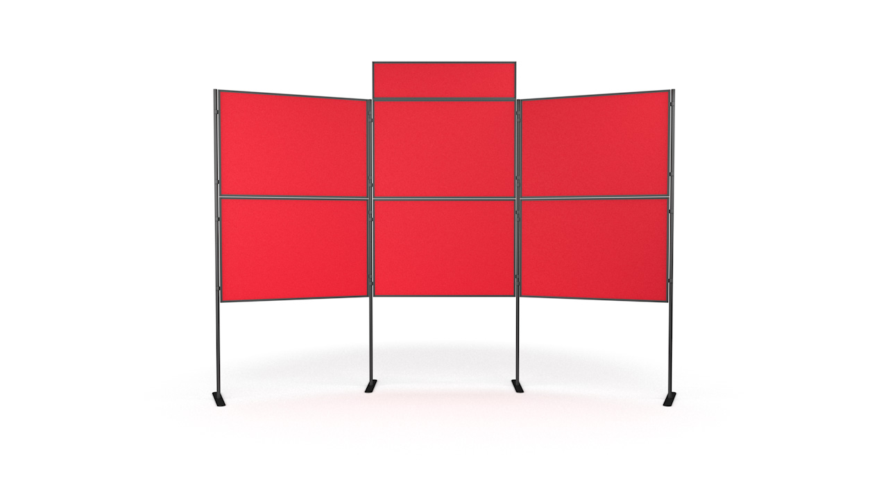 6 Panel And Pole Modular Display Board Systems