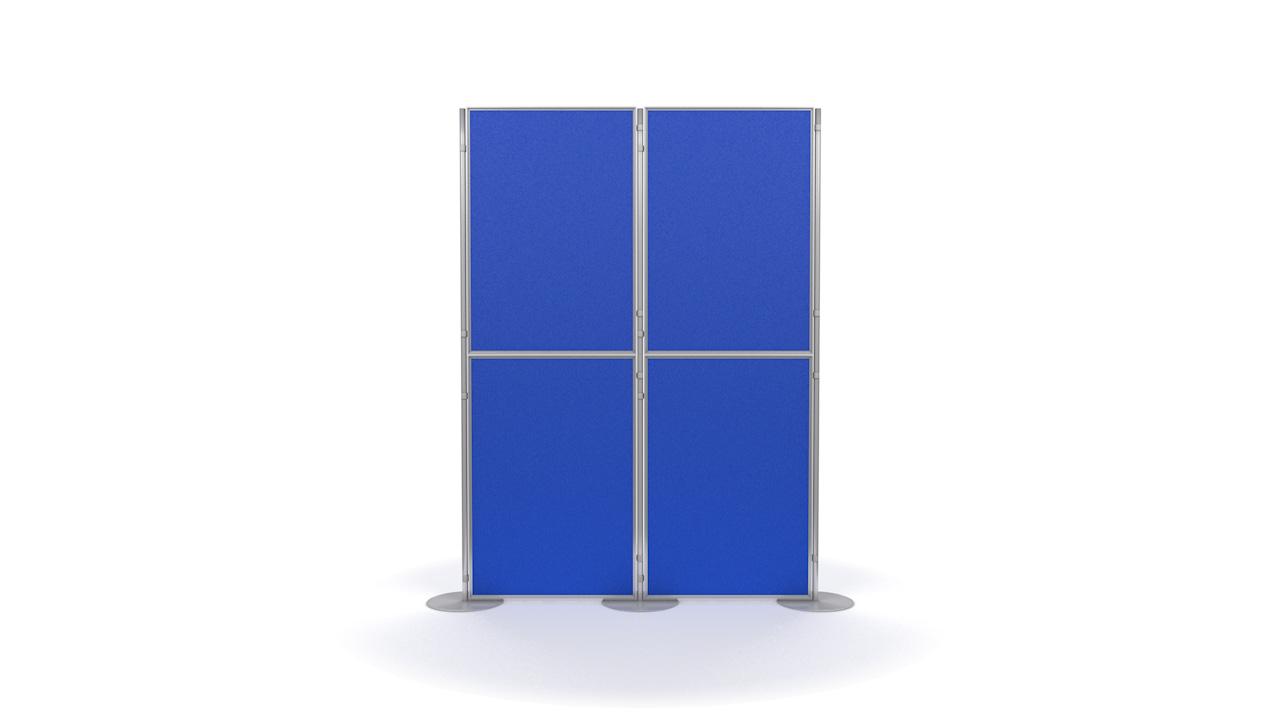 Aluminium 4 Panel and Pole Modular Display Panels