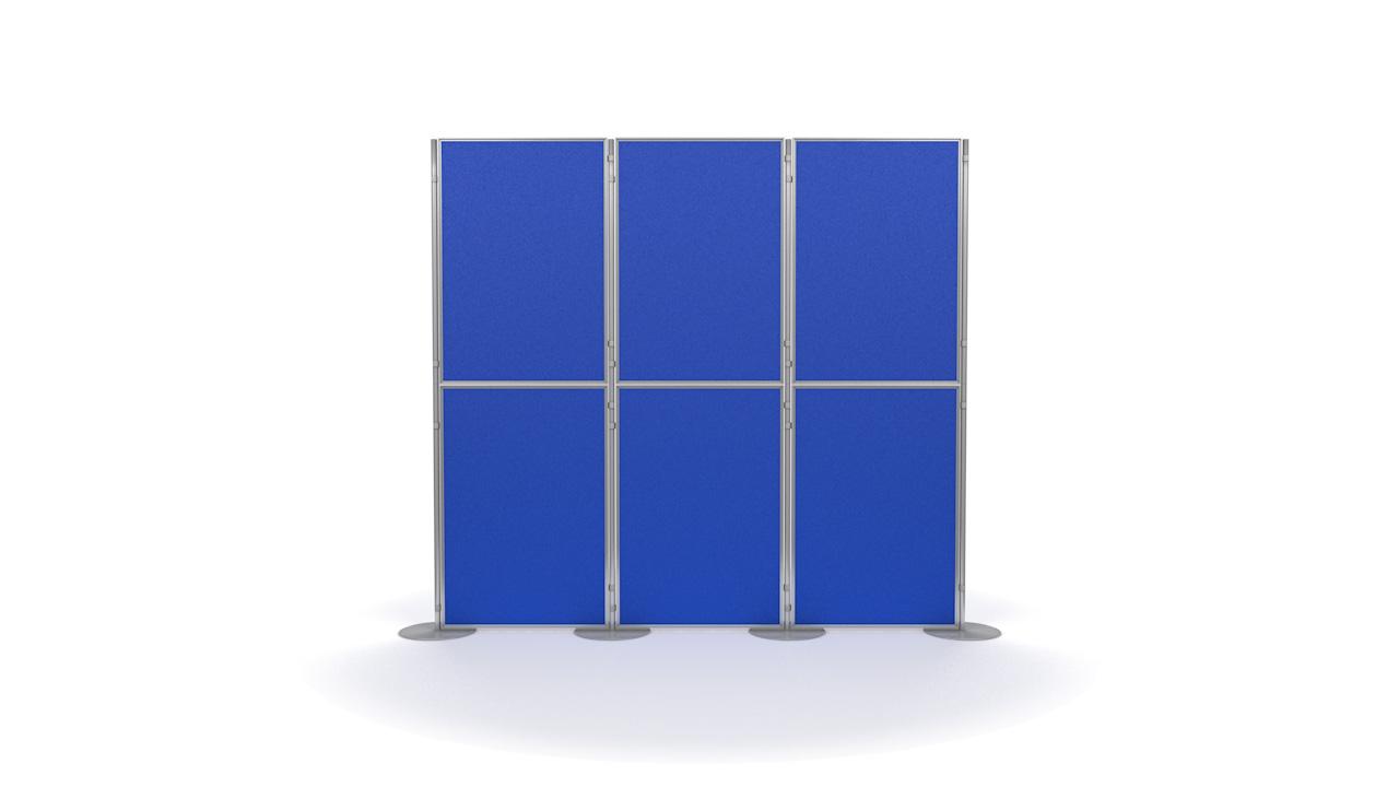 Aluminium 6 Panel and Pole Modular Display Panels