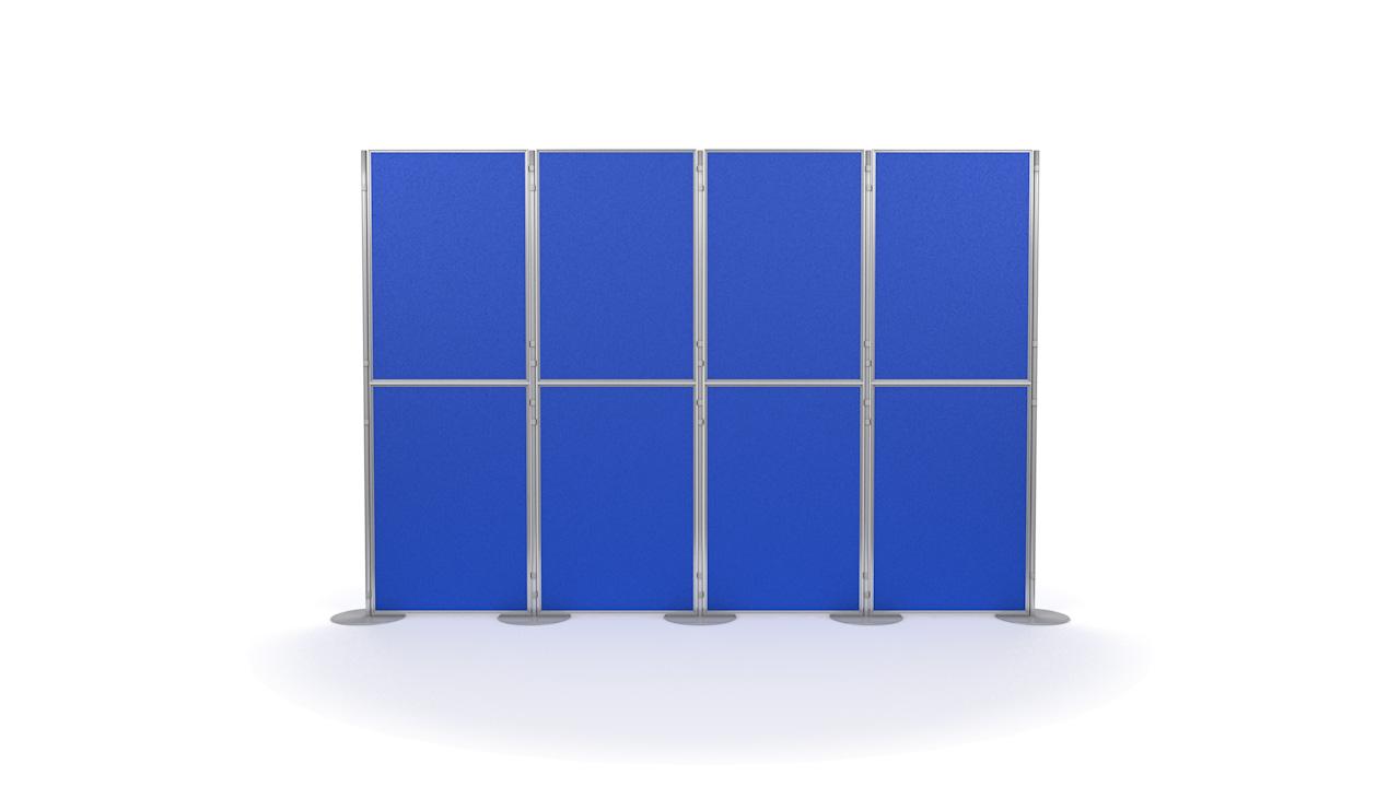 Aluminium 8 Panel and Pole Modular Display Panels