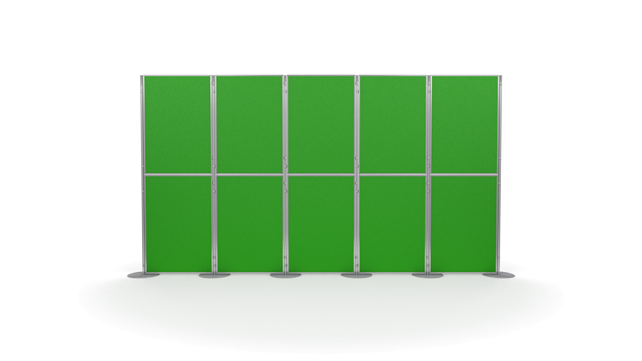Pinnable 10 Panel and Pole Portable Presentation Boards