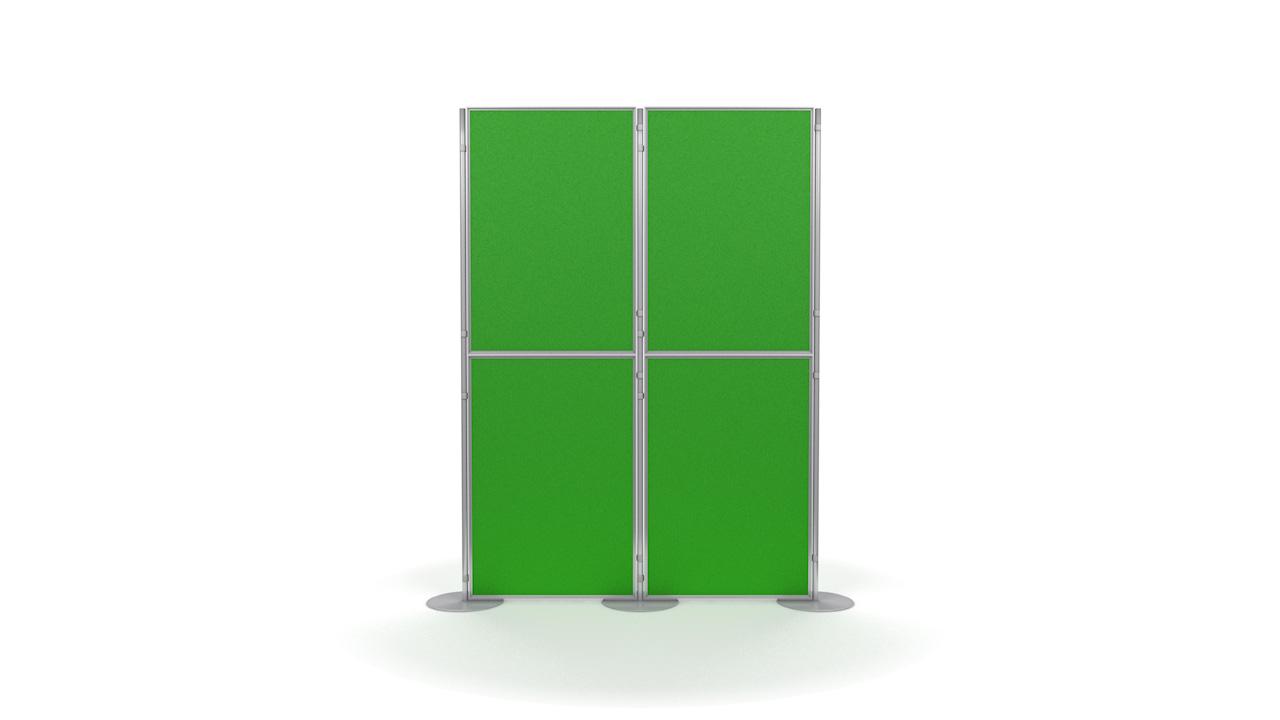 Pinnable 4 Panel And Pole Modular Presentation Boards