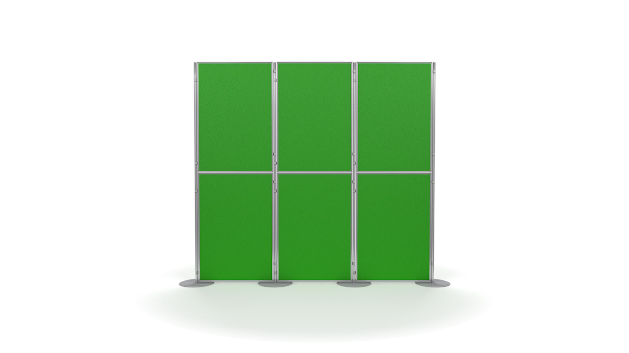 Pinnable 6 Panel And Pole Modular Presentation Boards