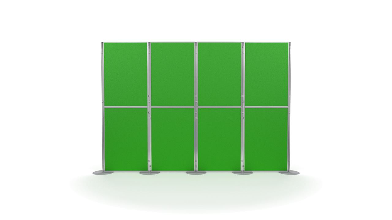 Pinnable 8 Panel and Pole Portable Presentation Boards