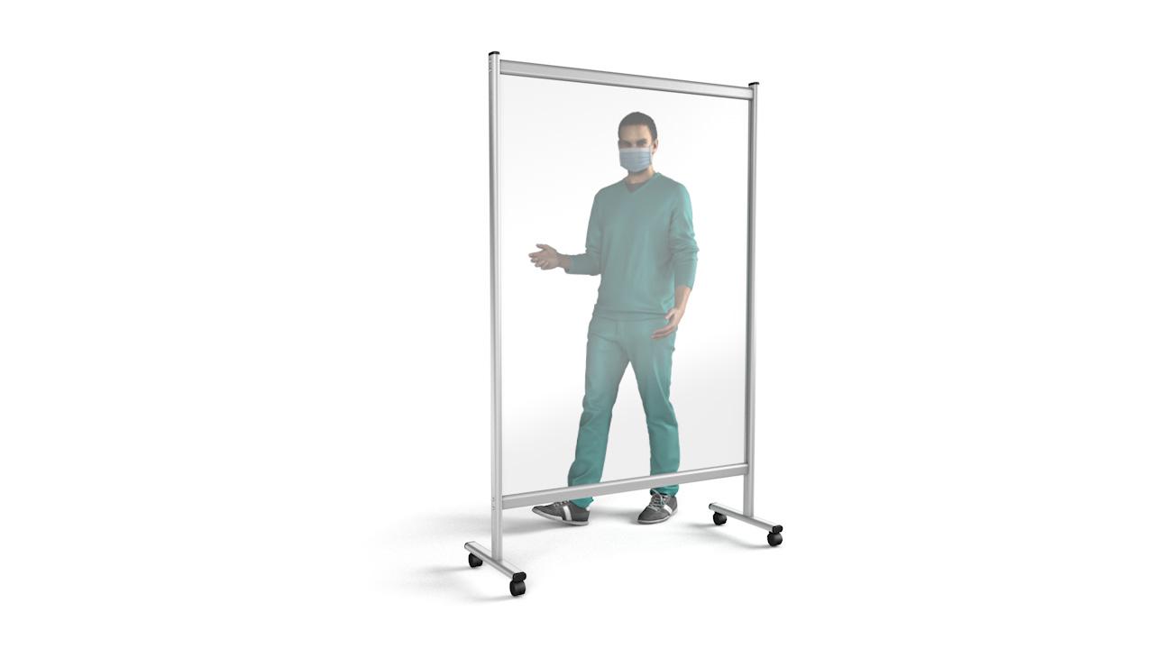 PREMIUM Medical Perspex<sup>®</sup> Screen On Wheels