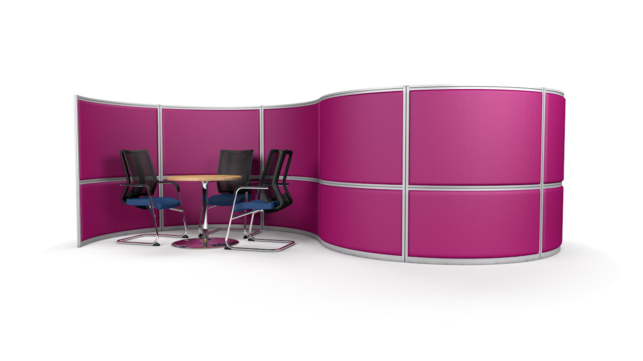 S-Shaped Acoustic Office Partition Wall