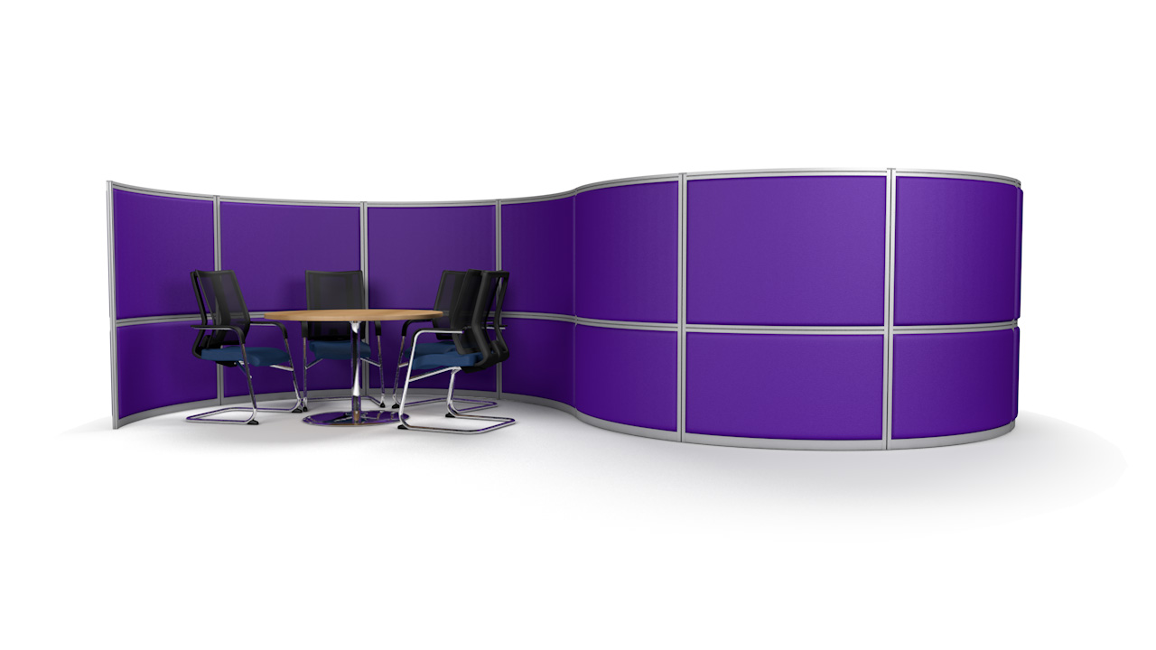 S-Shaped Acoustic Office Screen Wall 6m