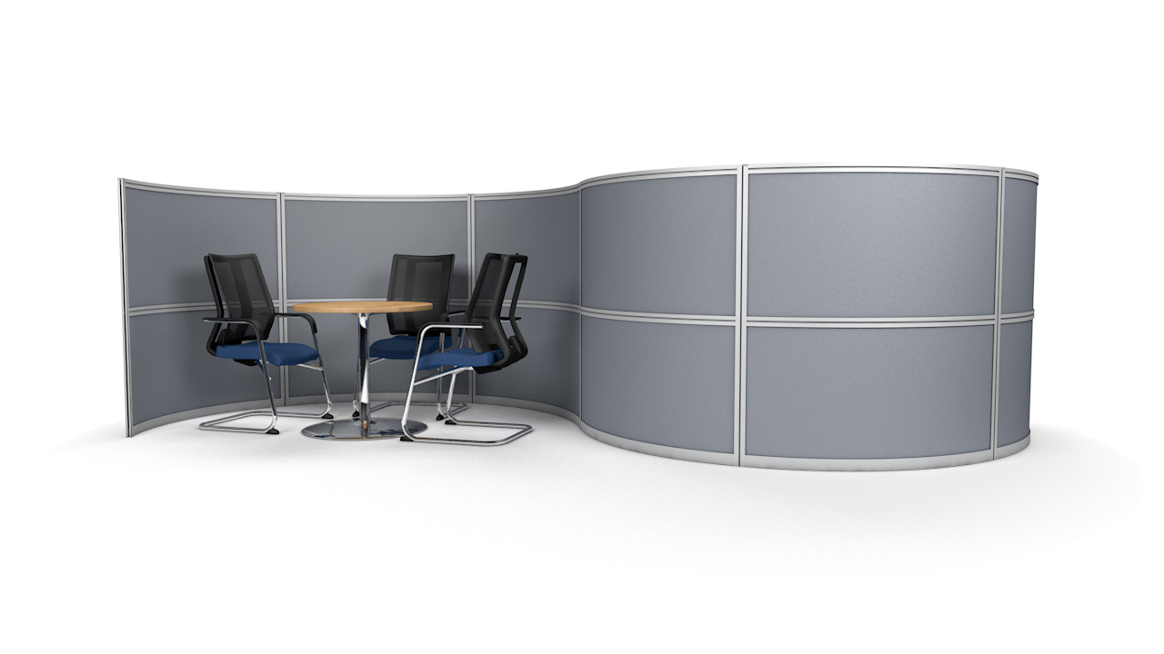 S-Shaped Office Divider Wall