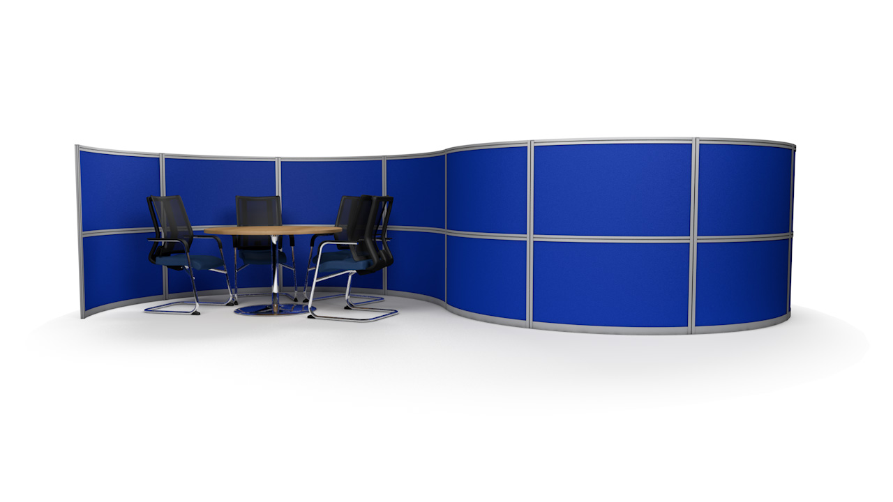 S-Shaped Office Partition Wall 6m