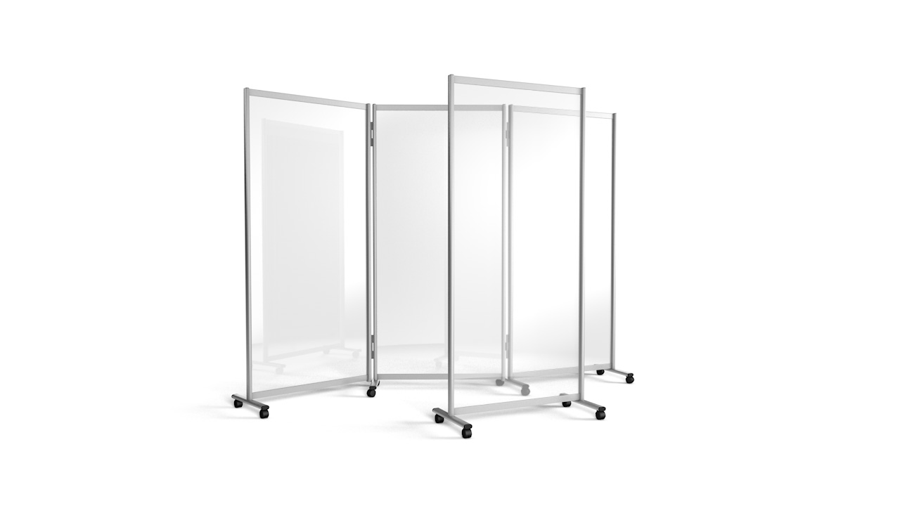 GUARDIAN Clear Acrylic Mobile Office Screens