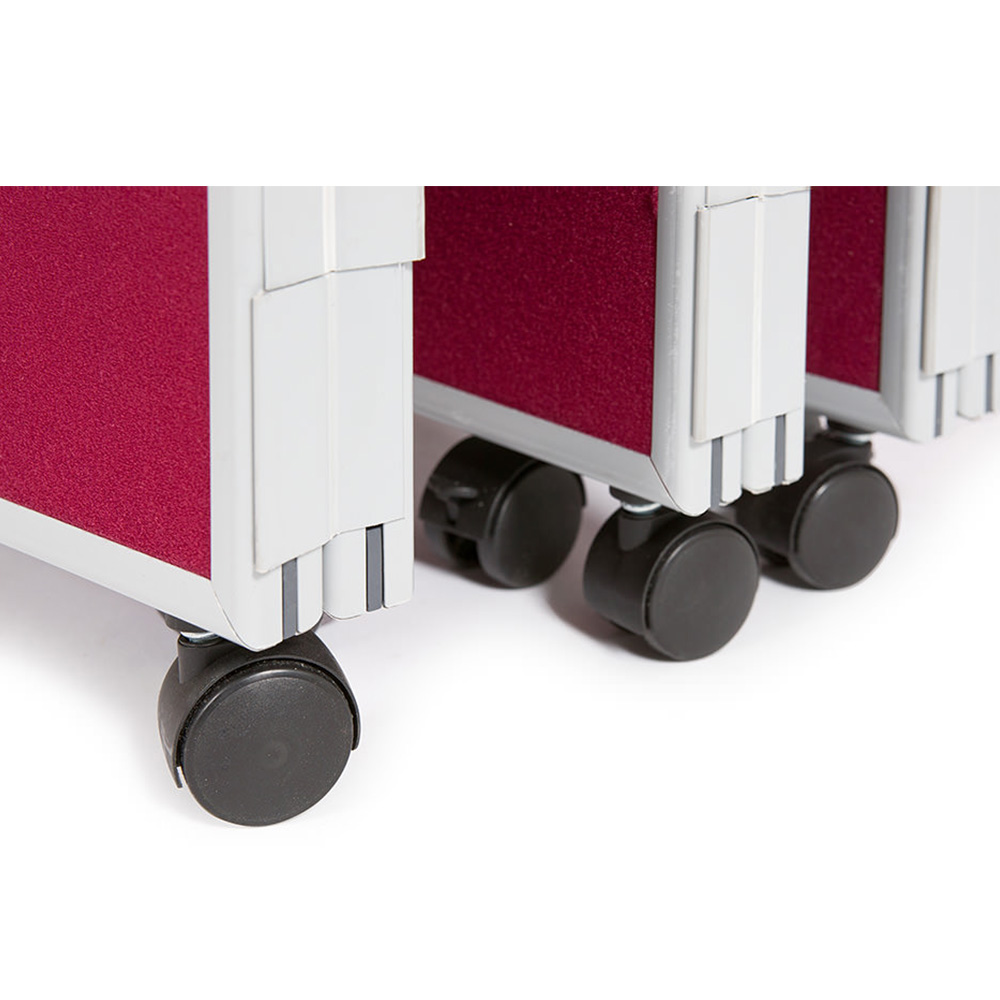 Castor Wheels on Folding Partition For Easy Portability