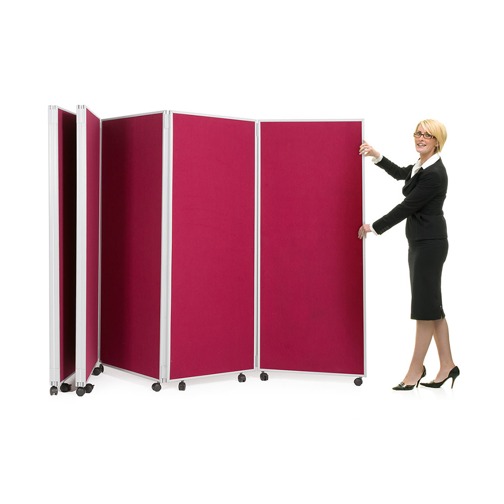 5 Panel Folding Room Divider on Wheels for Quick Mobility