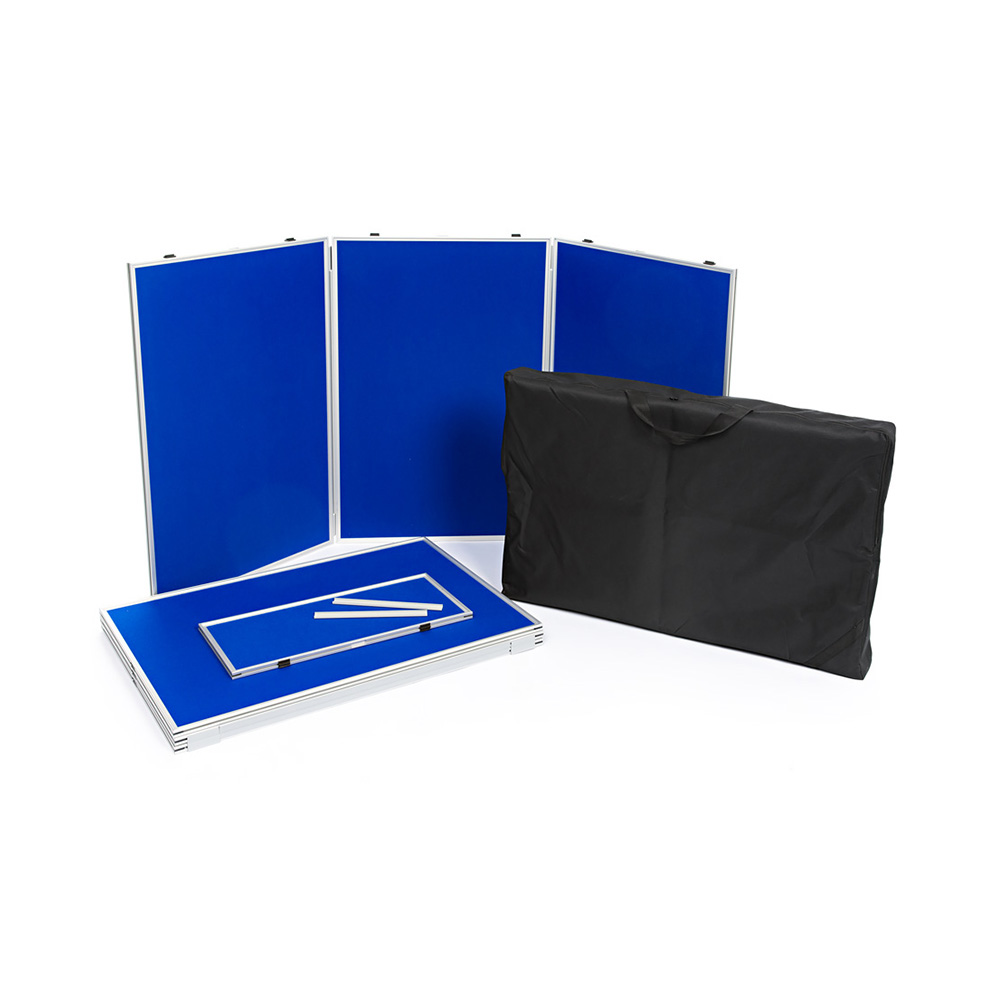 6 Panel Folding Presentation Kit Disassembled with Headers and Carry Bag