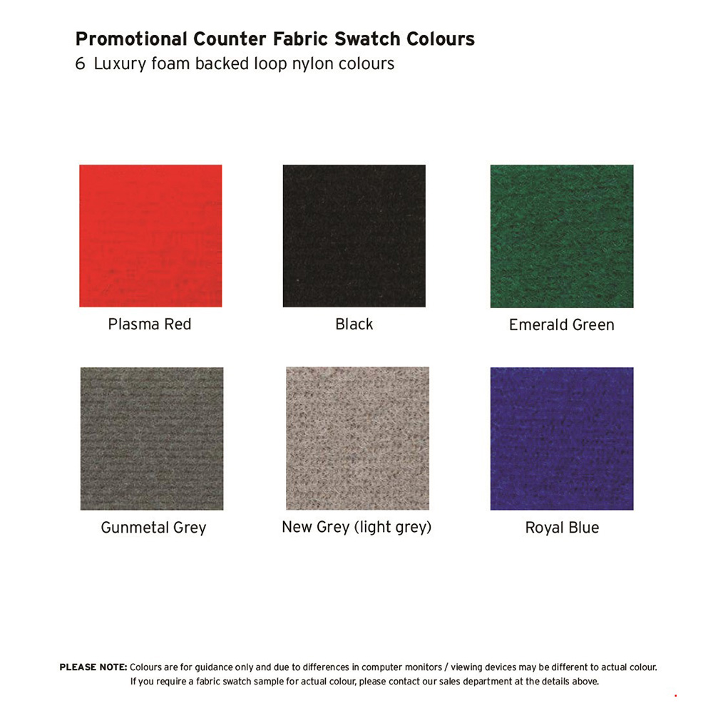 Display Board Fabric Colour Swatches