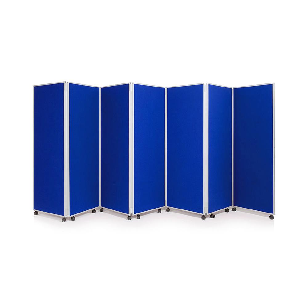 7 Panel Blue Folding Concertina Partition